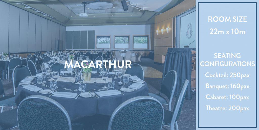 Ainslie Football Club Functions - Macarthur Room